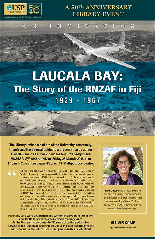 Flyer publicising my talk at the University of the South Pacific